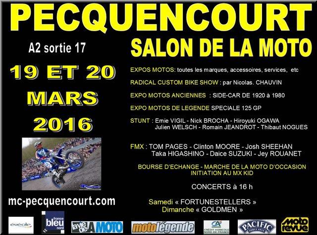 Salon de la moto pecquencourt 2016 calendrier de la for Salon de la moto 2016